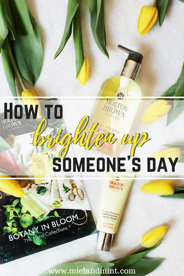 How to brighten up someone's day ft. Molton Brown Orange & Bergamot Hand Wash and Replenishing Hand Cream
