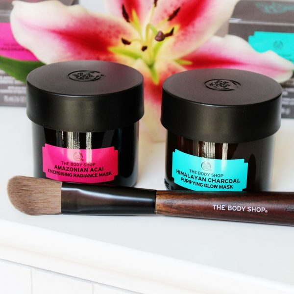 The Body Shop Himalayan Charcoal Purifying Glow Mask and Amazonian Acai Energising Radiance Mask - Miel and Mint blog