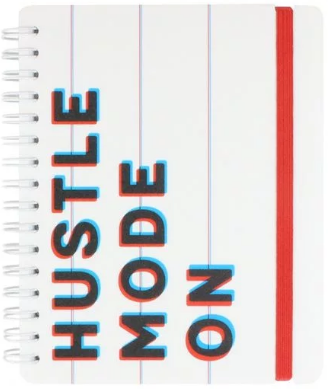 A6 Hustle mode lined notebook £4