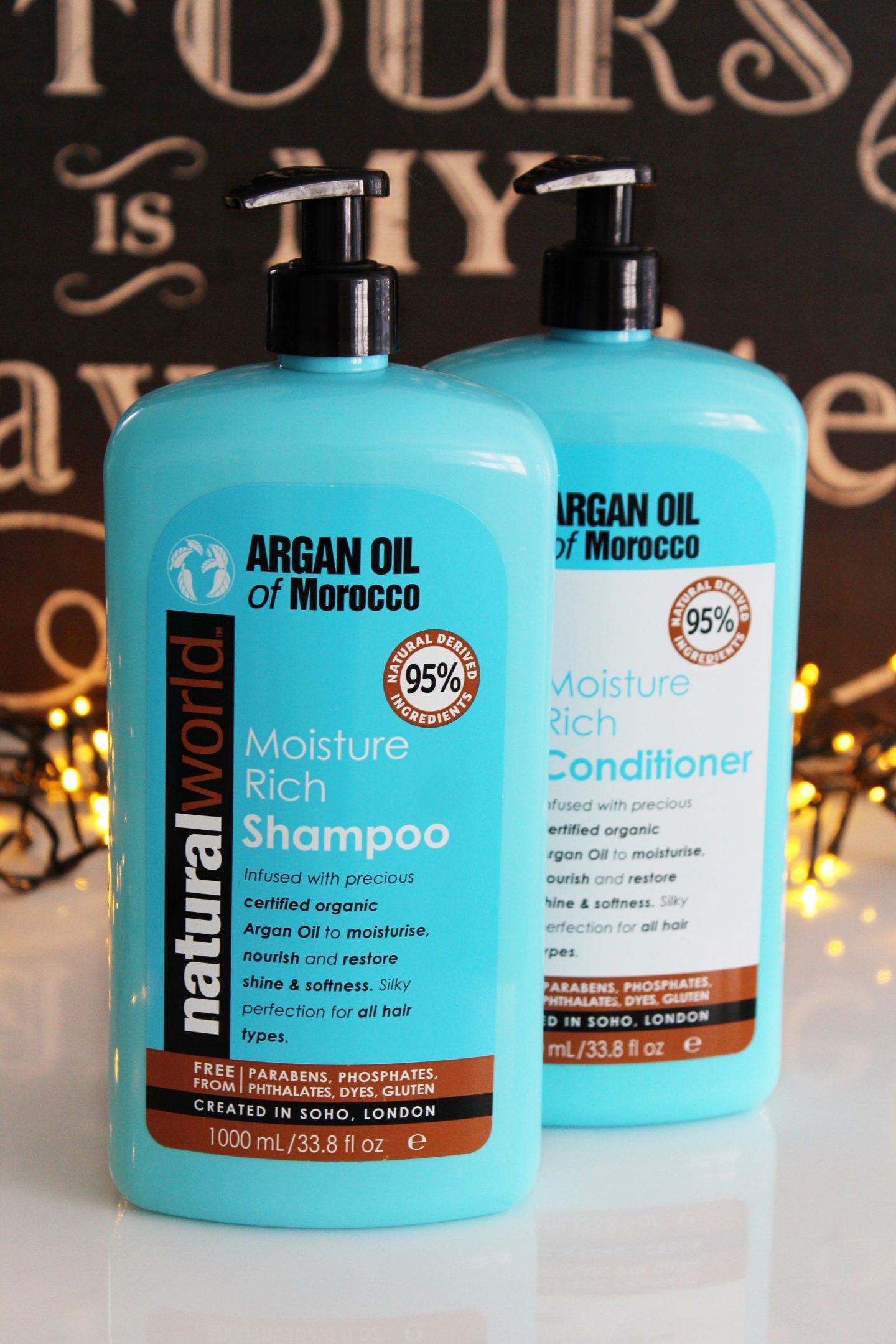 Natural World Argan Oil Of Morocco Shampoo and Conditioner