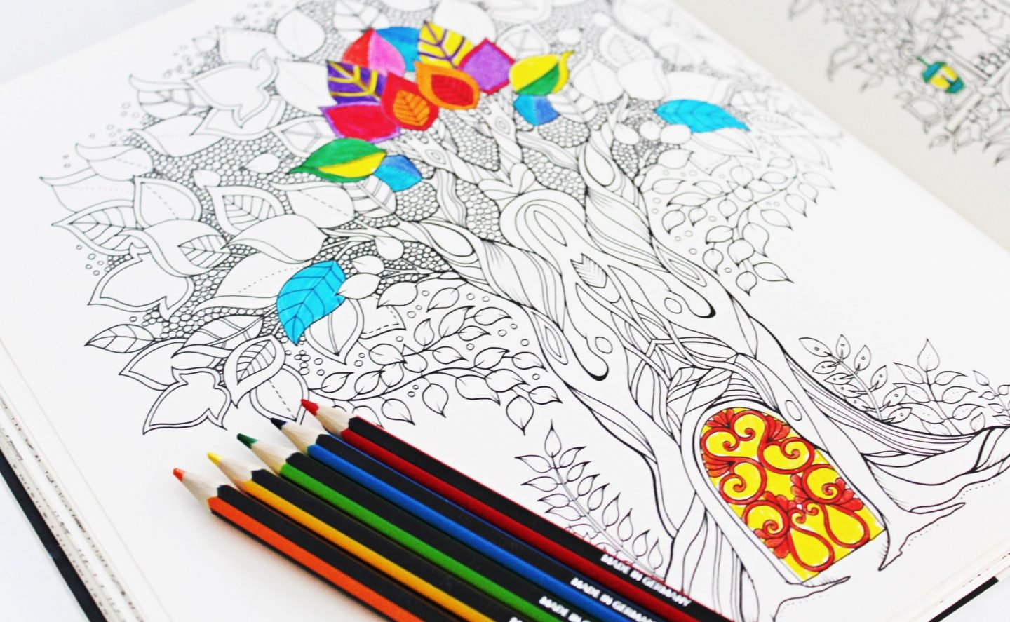 Wonder Forest colouring book - Miel and Mint blog