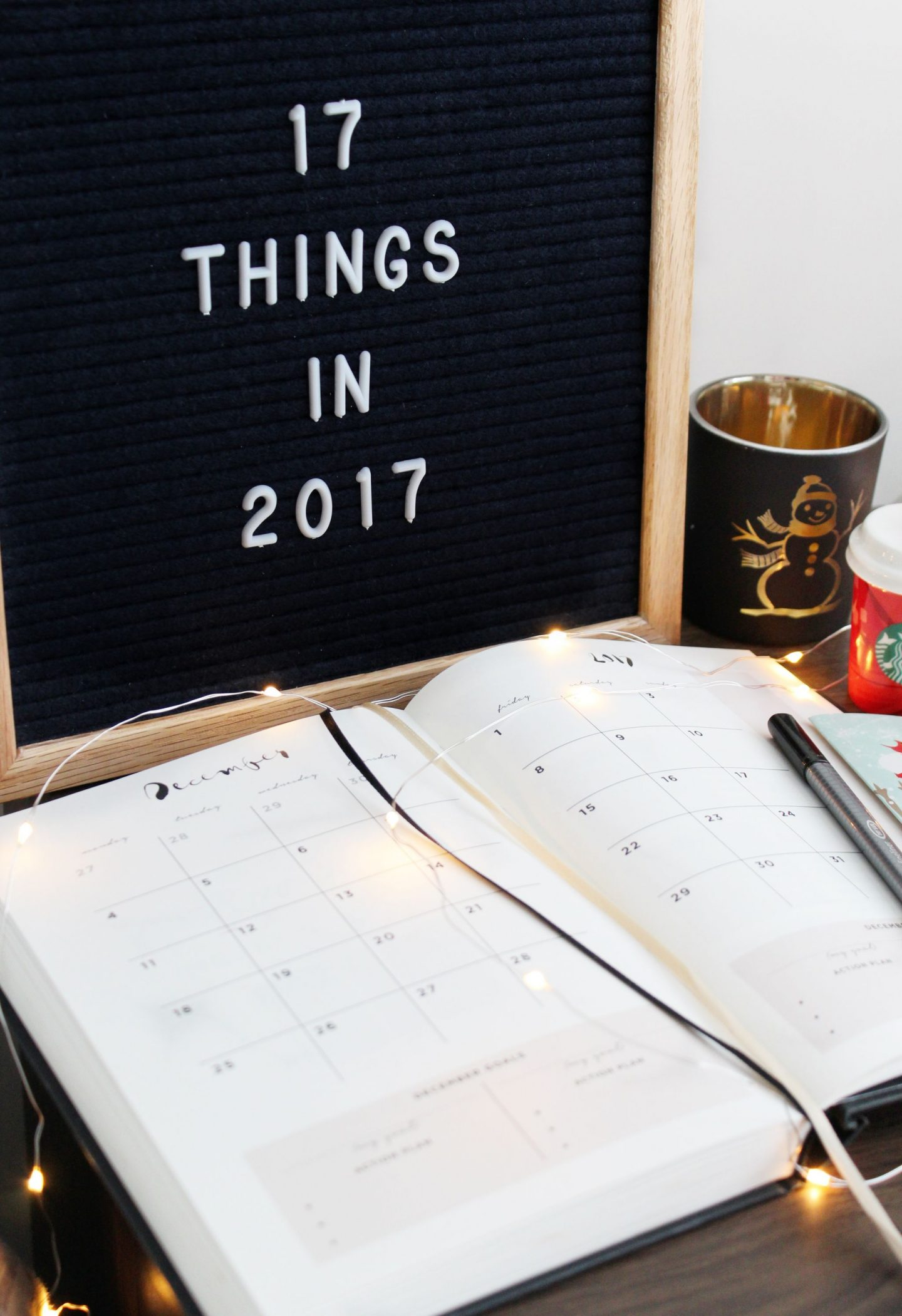 17 things to do in 2017, Planning, How to be productive and happy