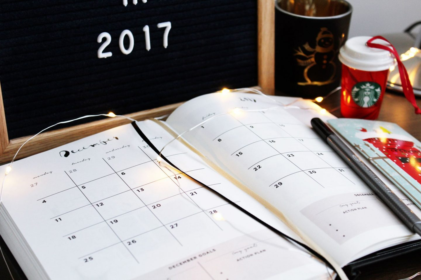 Planning, 2017, 17 things to do in 2017, how to plan your month, how to be productive
