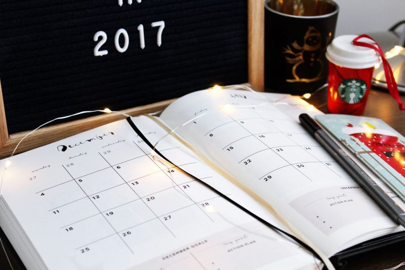 Planning, 2017, 17 things to do in 2017, how to plan your month
