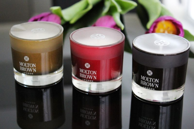 Molton Brown Rosa Absolute and Tobacco Absolute Candles - Miel and Mint blog