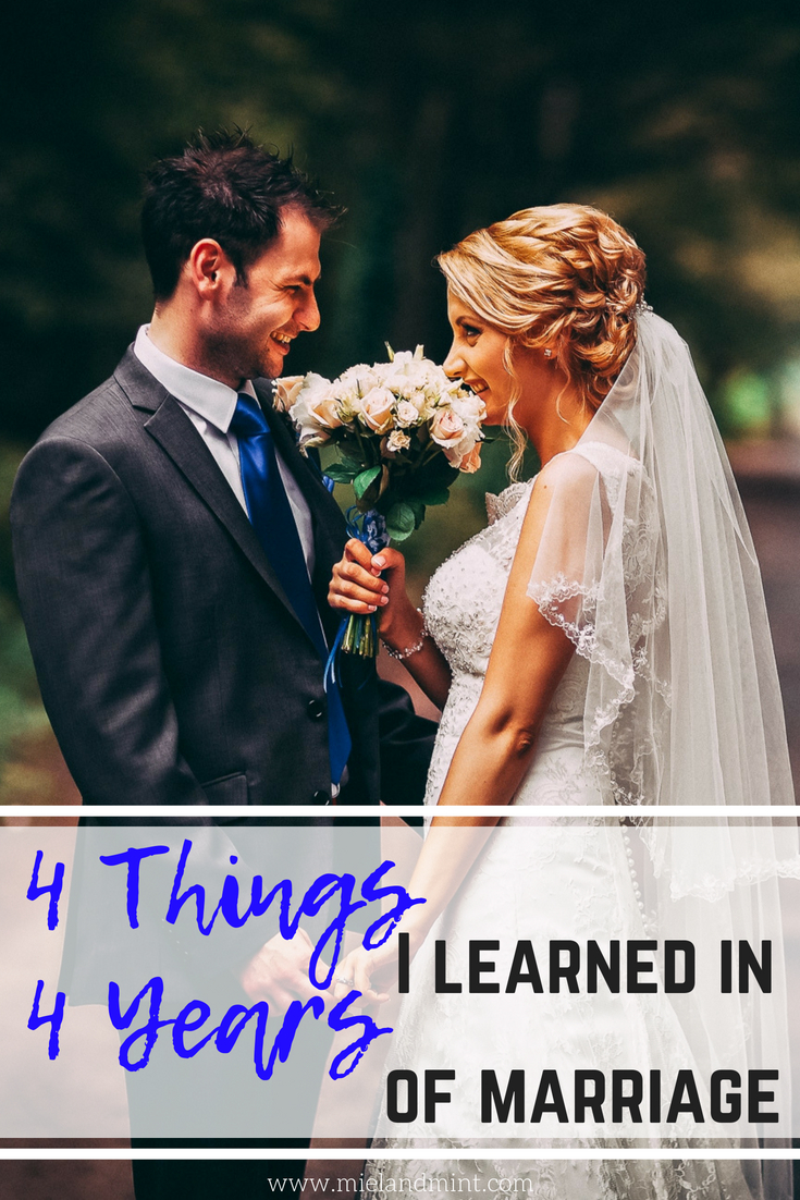 4 Things I Learned in 4 Years of Being Married