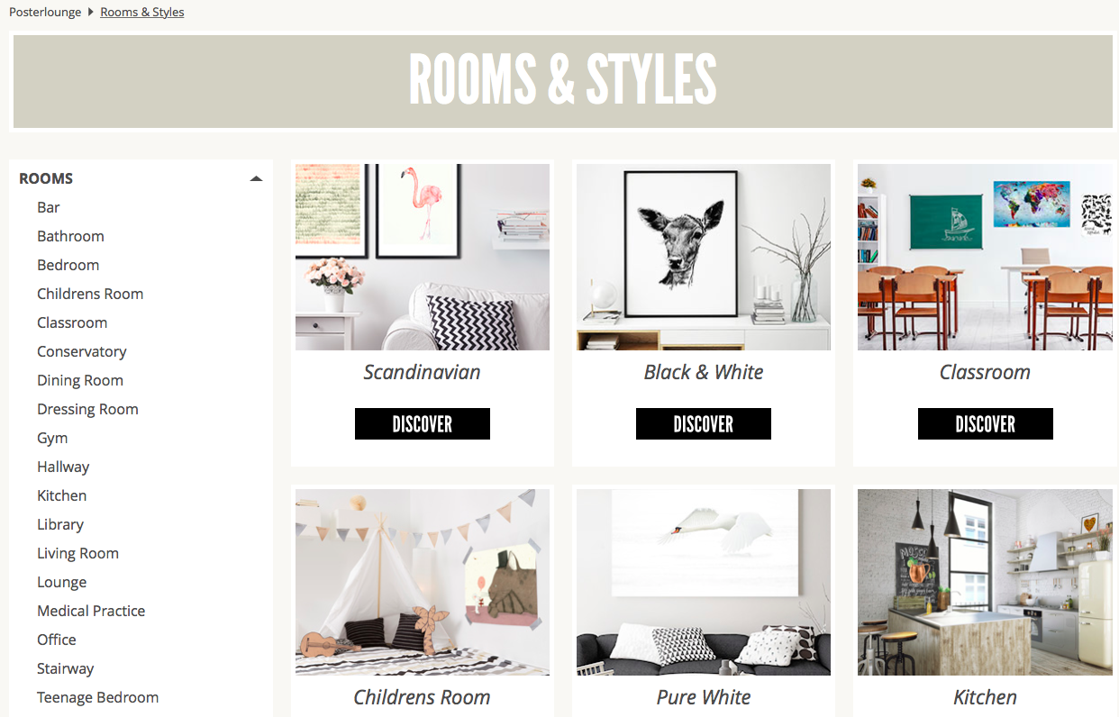 Posterlounge Rooms and Styles wall art inspiration
