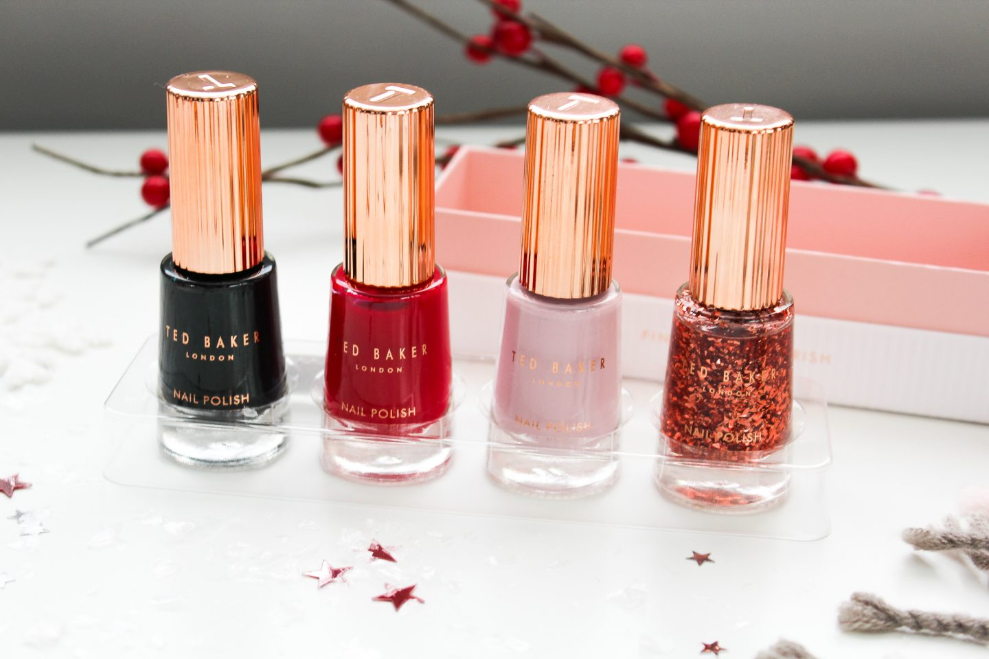 Ted Baker Ted Baker Finishing Flourish Gift nail polishes - Miel and Mint blog